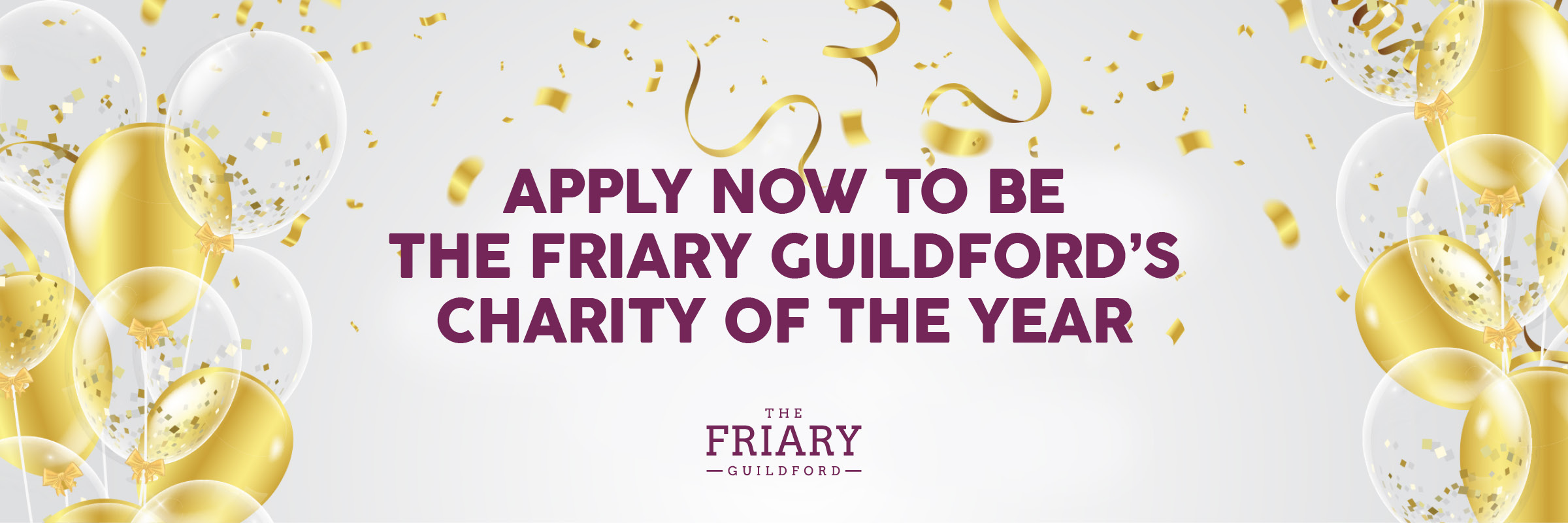 The Friary Guildford is searching for its new Partner Charity
