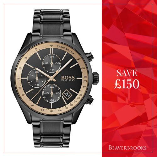 Black Hugo Boss Watch in the Beaverbrooks Sale